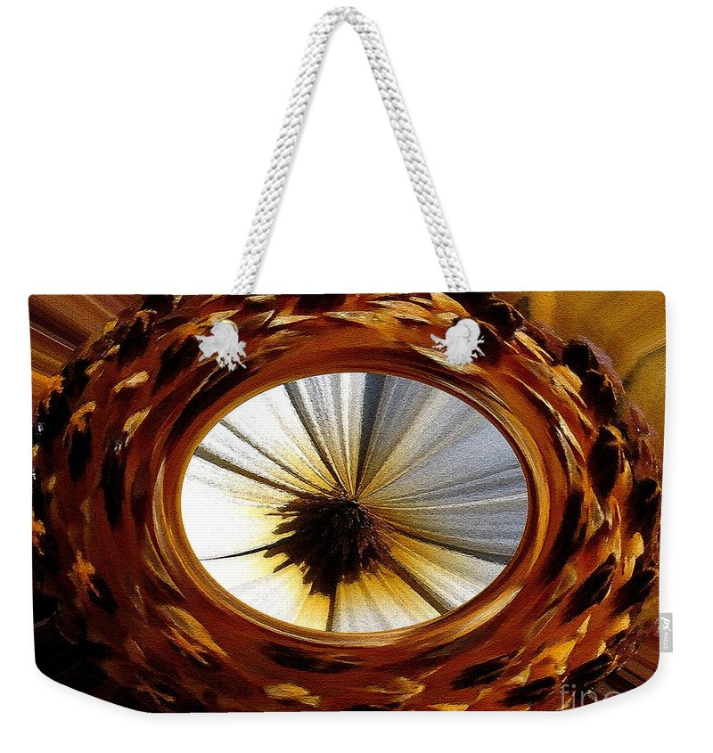 Mccombie Weekender Tote Bag featuring the painting African Moon Abstract by J McCombie