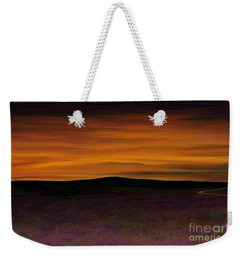 Sky Weekender Tote Bag featuring the painting African Sky by Rand Herron
