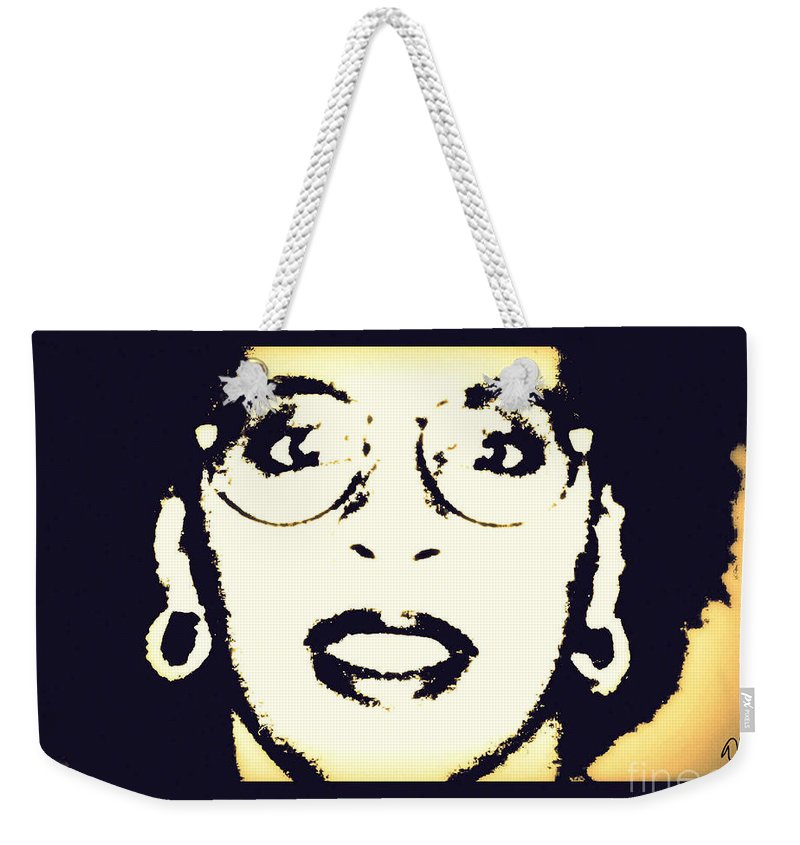 Afro Weekender Tote Bag featuring the photograph Afro Woman by Angela L Walker