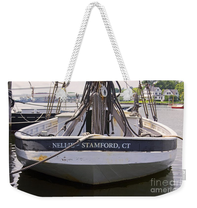 Sail Weekender Tote Bag featuring the photograph Aft End by Joe Geraci