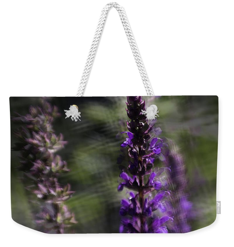 Sage Weekender Tote Bag featuring the photograph After Me by Jean OKeeffe Macro Abundance Art