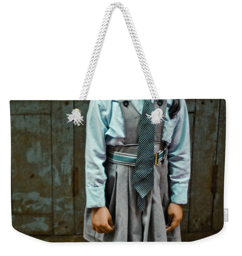People Weekender Tote Bag featuring the photograph After School Pose by Valerie Rosen