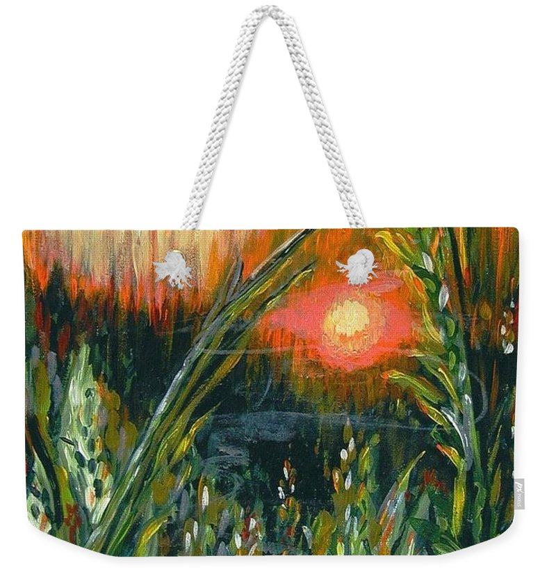 Fire Weekender Tote Bag featuring the painting After The Fire by Holly Carmichael