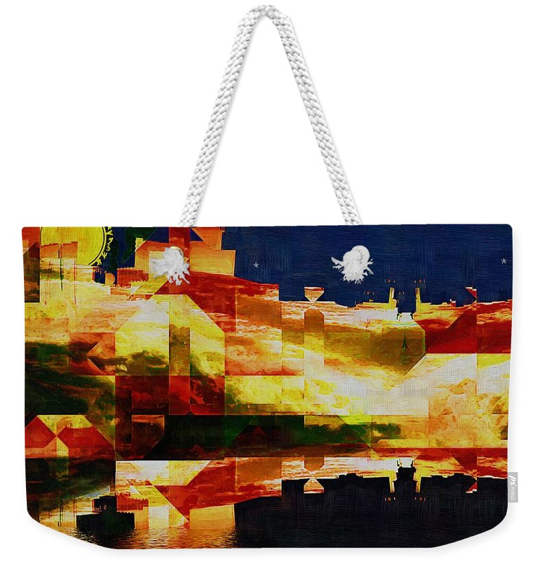 Abstract Weekender Tote Bag featuring the painting After The Icebergs Melt by RC DeWinter