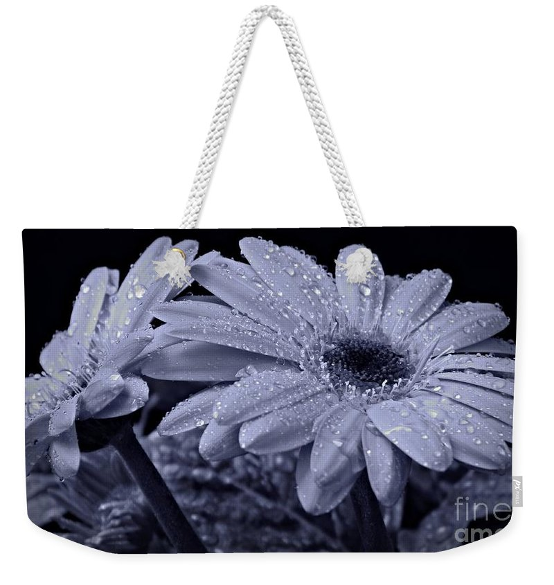 After The Rain Cyan Weekender Tote Bag featuring the photograph After The Rain Cyan by Chalet Roome-Rigdon
