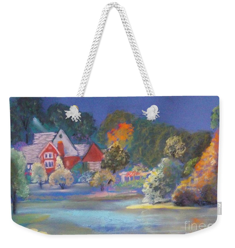 Autumn Weekender Tote Bag featuring the pastel After The Rain by Sandra McClure