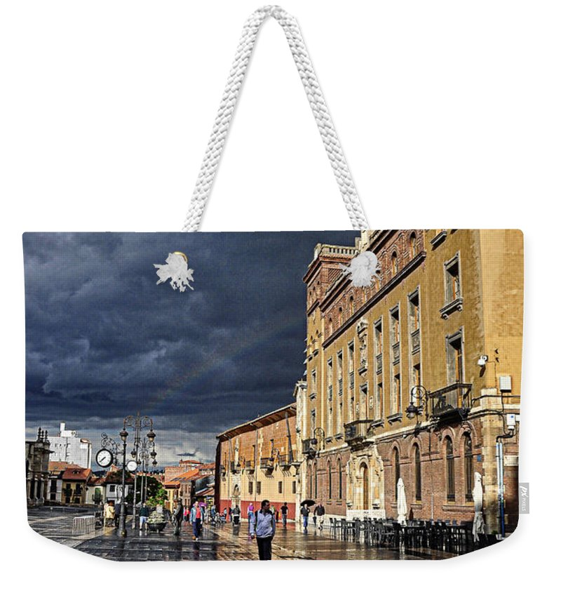 Rainbow Weekender Tote Bag featuring the photograph After The Rain by Tom Bell