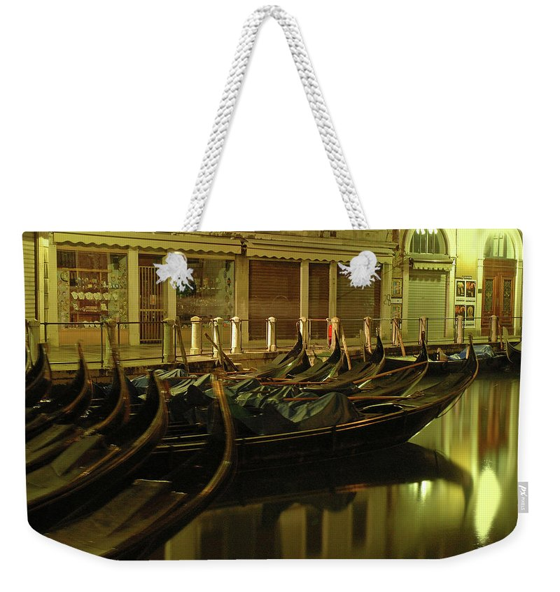 Venice Weekender Tote Bag featuring the photograph After The Romance by George Buxbaum