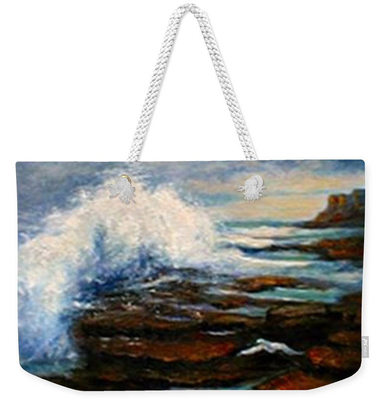 Seascape Weekender Tote Bag featuring the painting After The Storm by Gail Kirtz