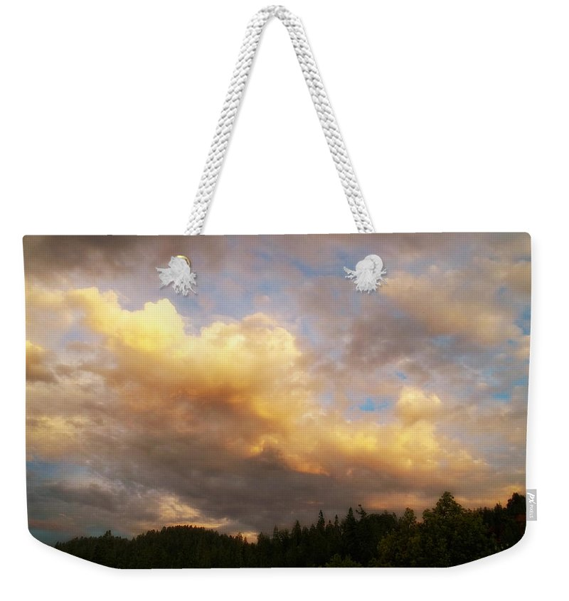 Glenn Mccarthy Weekender Tote Bag featuring the photograph After The Storm - Lake Arrowhead by Glenn McCarthy Art and Photography