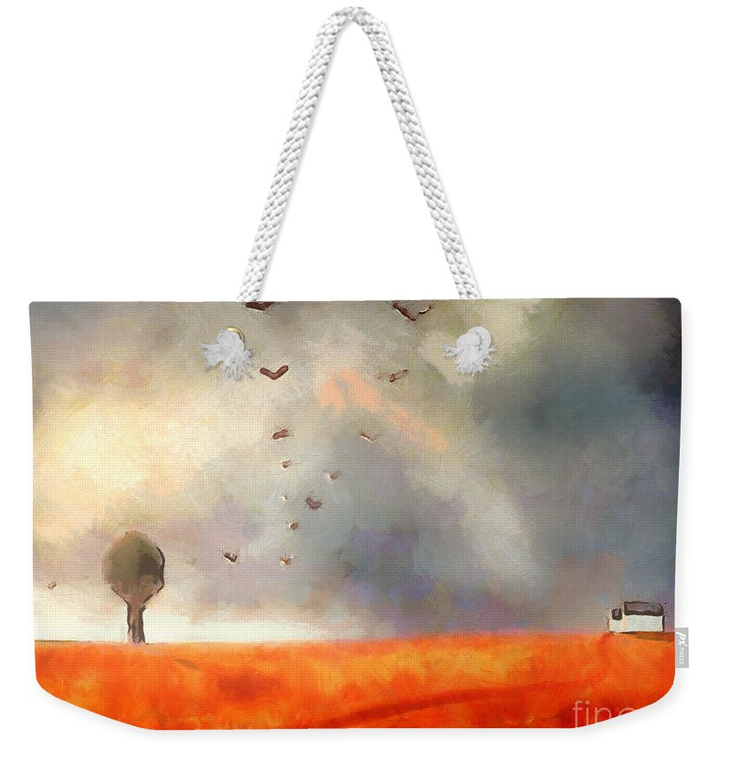 Fine Art Weekender Tote Bag featuring the painting After The Storm by Pixel Chimp