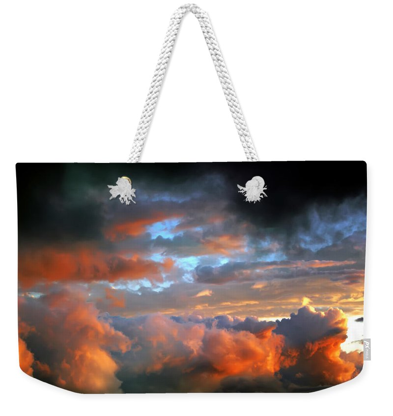 View Weekender Tote Bag featuring the photograph After Tornado Skyscape by Alex Grichenko