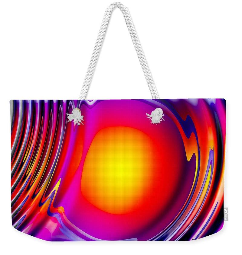 Orange Weekender Tote Bag featuring the digital art Afterglow by Robert Orinski