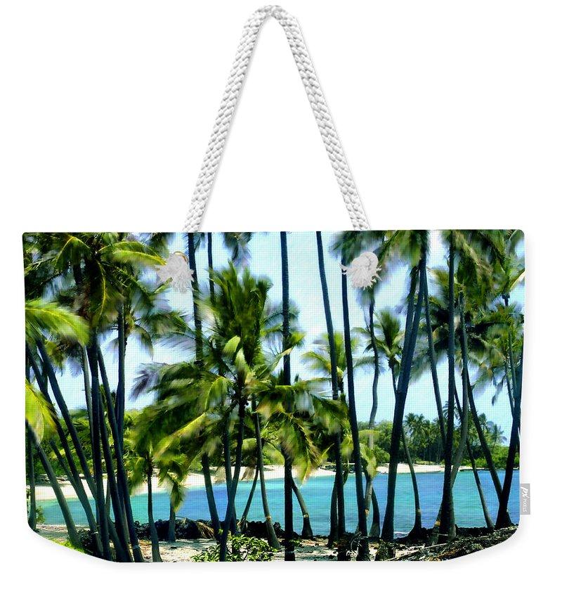 Hawaii Weekender Tote Bag featuring the photograph Afternoon At Kakaha Kai by Kurt Van Wagner