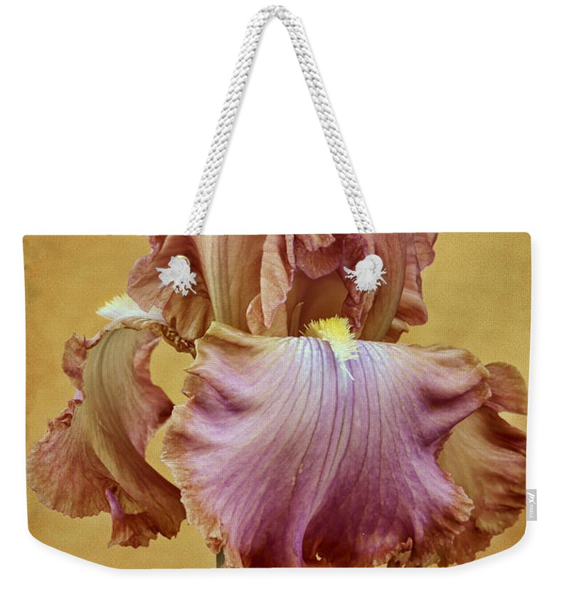 Bearded Iris Weekender Tote Bag featuring the photograph Afternoon Delight - 1 by Nikolyn McDonald