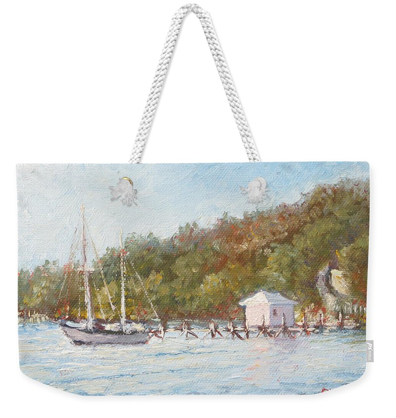 Afternoon On The Bay Weekender Tote Bag featuring the painting Afternoon On The Bay by Ritchie Eyma