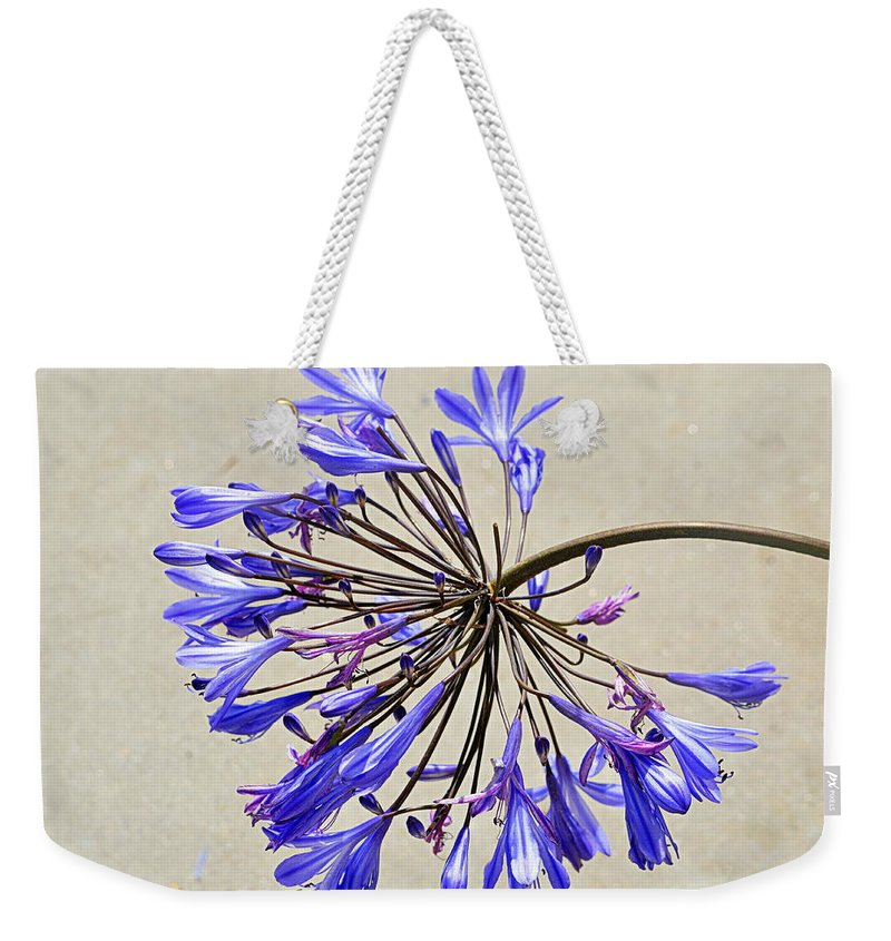 Flower Weekender Tote Bag featuring the photograph Agapanthus by AJ Schibig
