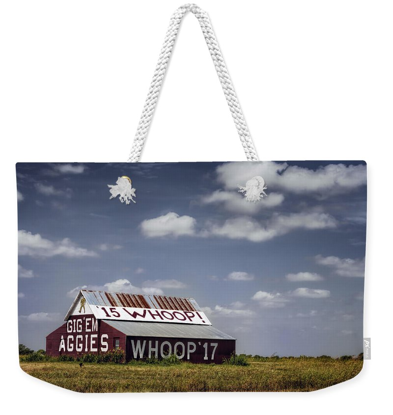 Joan Carroll Weekender Tote Bag featuring the photograph Aggie Barn by Joan Carroll