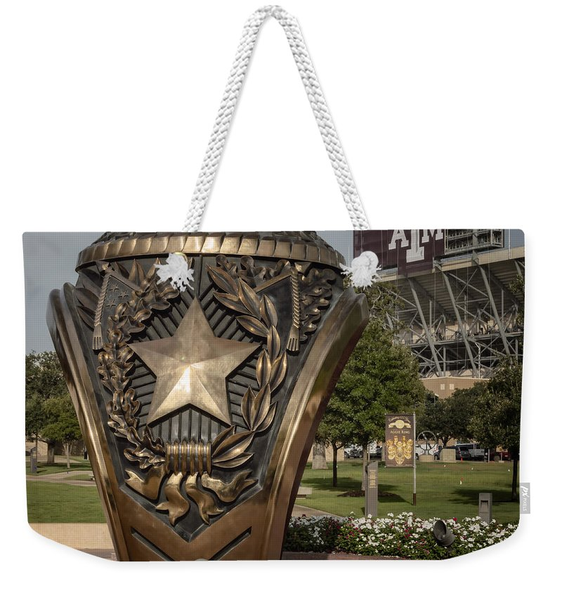 Joan Carroll Weekender Tote Bag featuring the photograph Aggie Ring by Joan Carroll