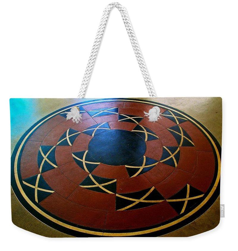 Ahwahnee Hotel Weekender Tote Bag featuring the photograph Ahwahnee Hotel Floor Medallion by Eric Tressler