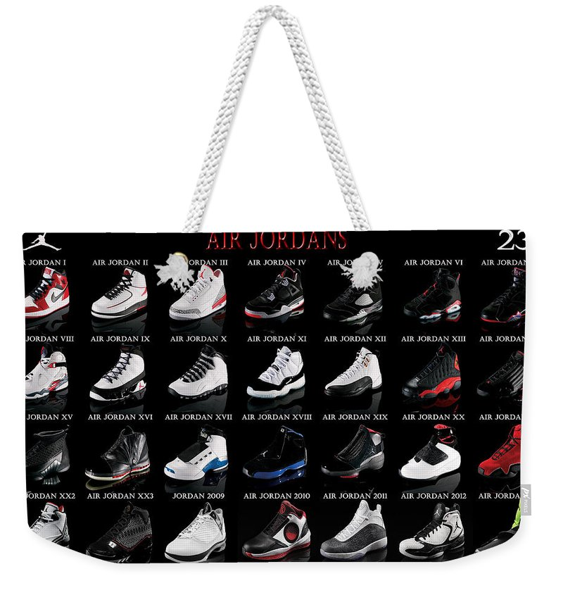6d8150e14c1 Air Jordan Shoe Gallery Weekender Tote Bag for Sale by Brian Reaves