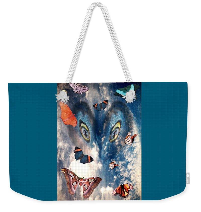 Air Weekender Tote Bag featuring the digital art Air by Lisa Yount