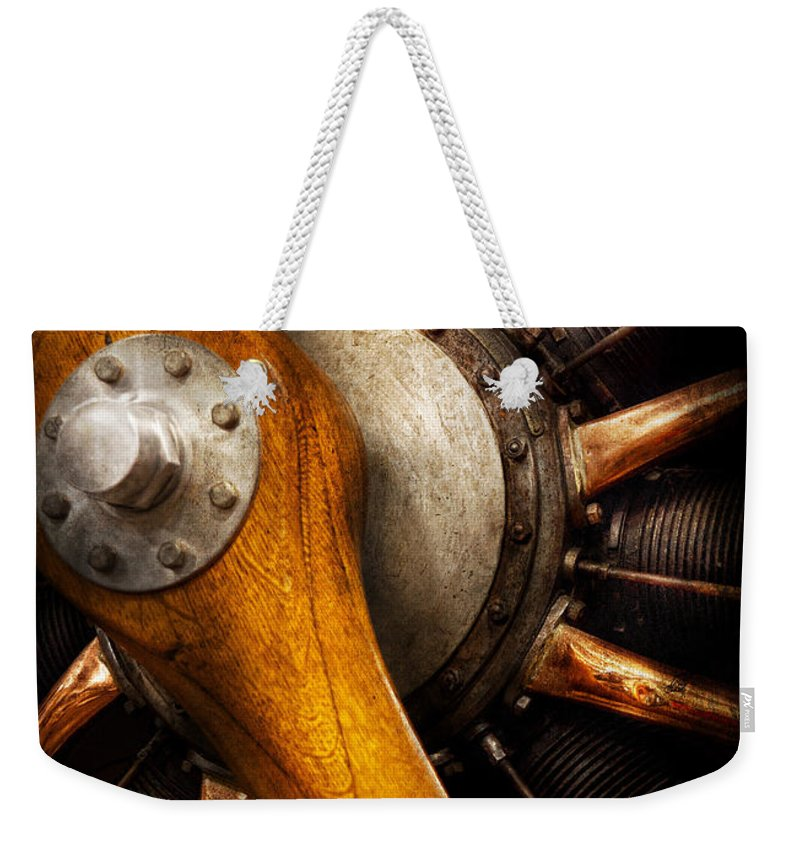 Propeller Weekender Tote Bag featuring the photograph Air - Pilot - You got props by Mike Savad