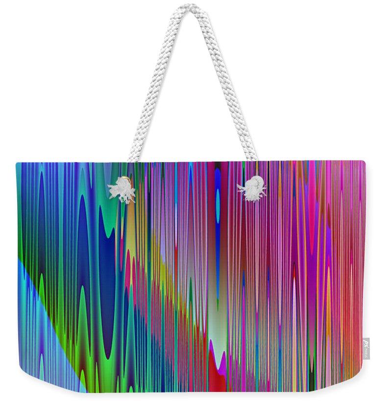 Abstract Weekender Tote Bag featuring the digital art Airwaves by Cassie Peters