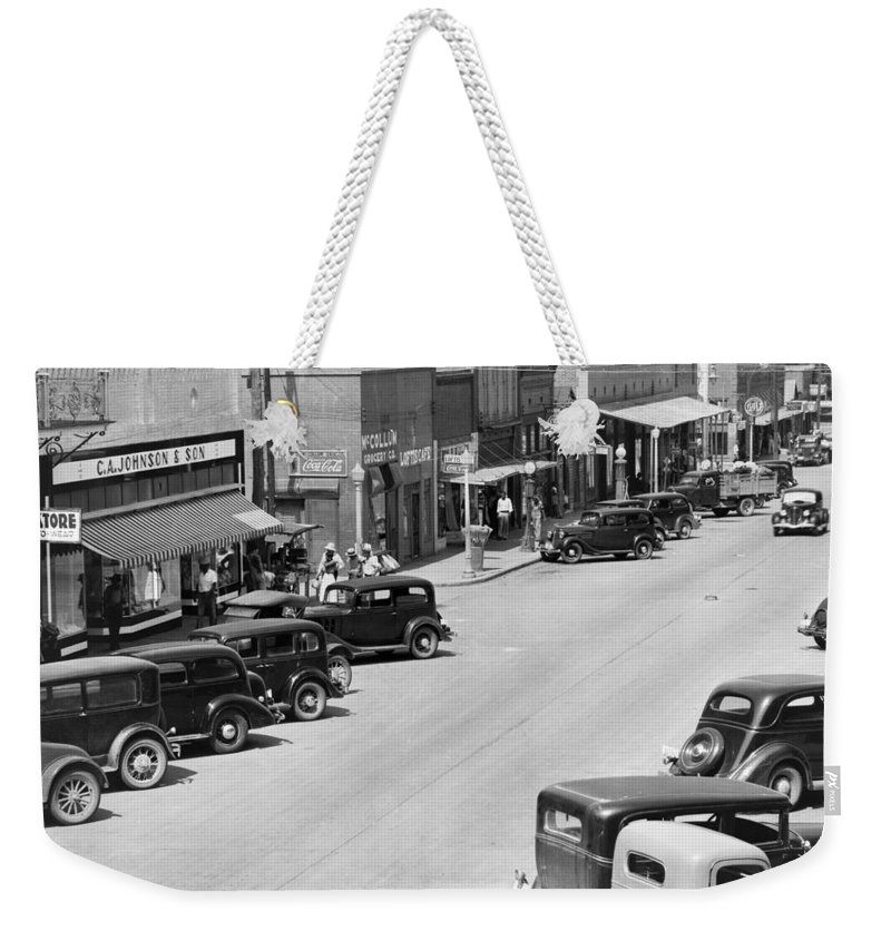 1935 Weekender Tote Bag featuring the photograph Alabama Town, C1935 by Granger