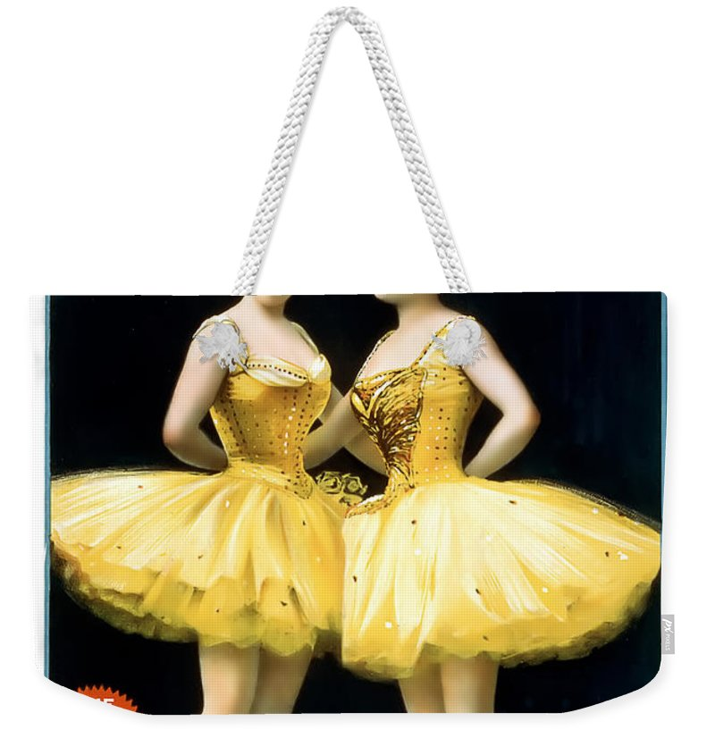 Vintage Poster Weekender Tote Bag featuring the painting Aladdin Jr Ballerinas by Terry Reynoldson