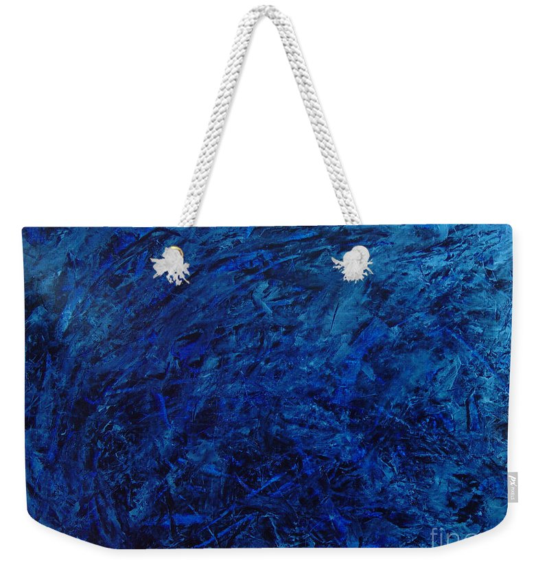 Abstract Weekender Tote Bag featuring the painting Alans Call by Dean Triolo