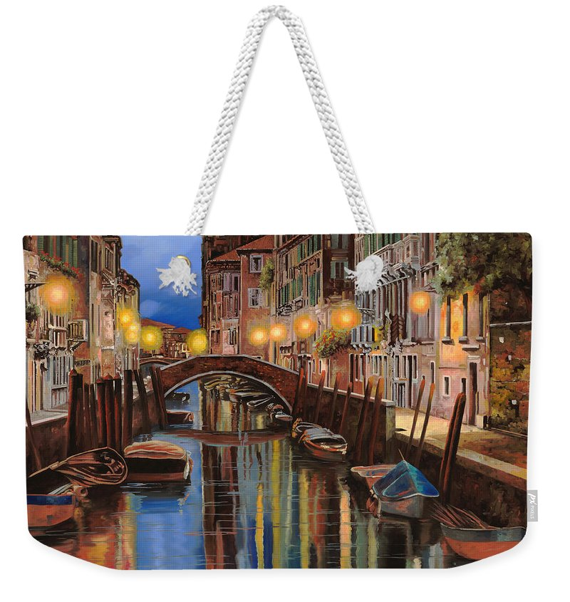 Venice Weekender Tote Bag featuring the painting alba a Venezia by Guido Borelli