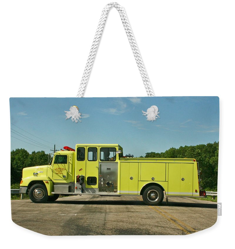 Fire Service Weekender Tote Bag featuring the photograph Albany Community Volunteer Fire Dept. 702 by Susan McMenamin