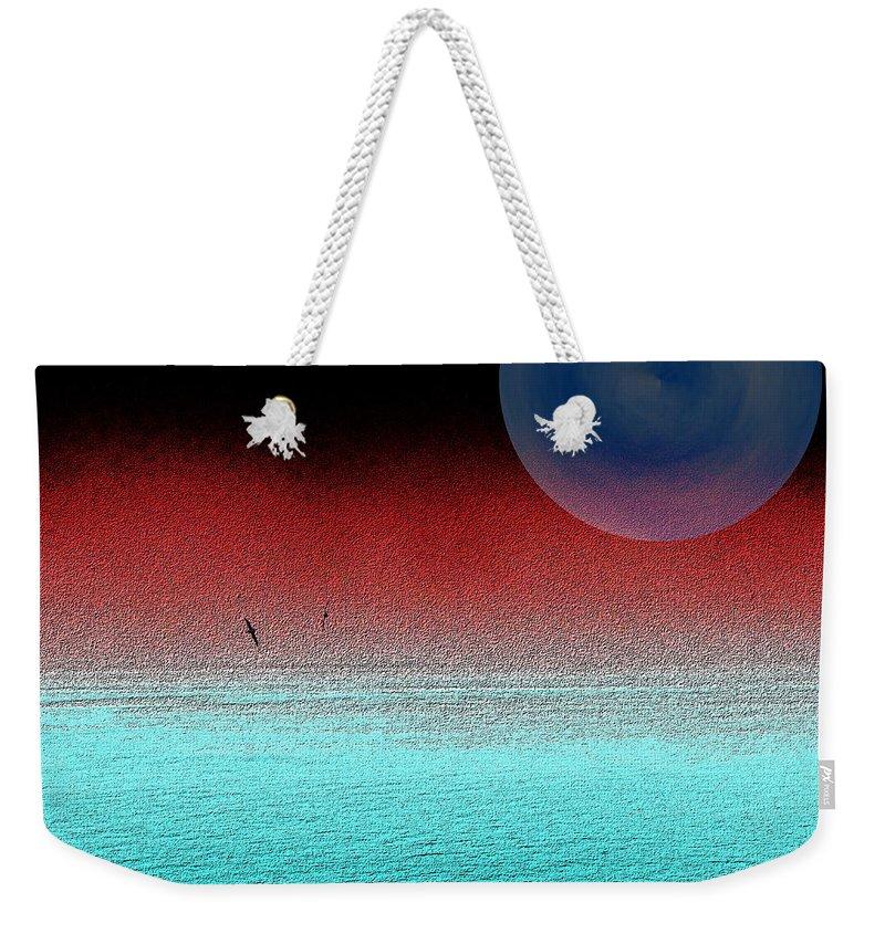 Albatros Weekender Tote Bag featuring the digital art Albatross Mist by Tim Allen