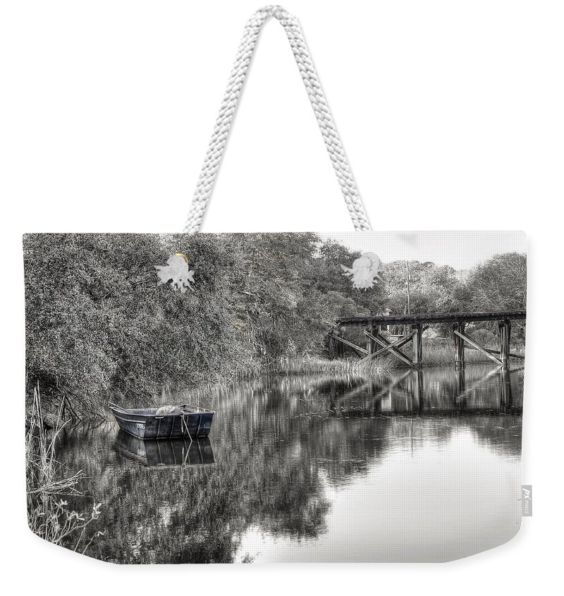 Abandoned Weekender Tote Bag featuring the photograph Albergottie Creek Trestle by Scott Hansen