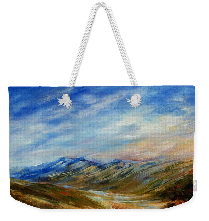Alberta Moment Weekender Tote Bag featuring the painting Alberta Moment by Joanne Smoley