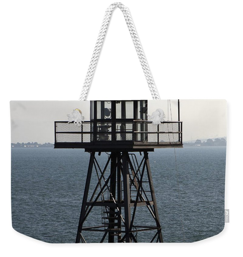 Watchtower Weekender Tote Bag featuring the photograph Alcatraz Watch Tower by Jason O Watson