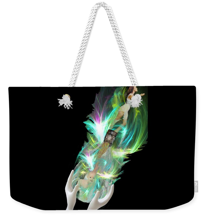 Baby Weekender Tote Bag featuring the digital art Alchemy by Lisa Yount