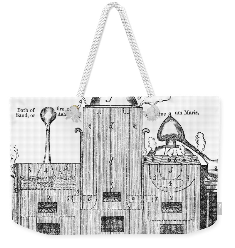 19th Century Weekender Tote Bag featuring the photograph Alchemy: Tower Of Athanor by Granger