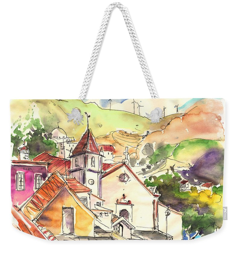 Portugal Weekender Tote Bag featuring the painting Alcoutim In Portugal 07 by Miki De Goodaboom