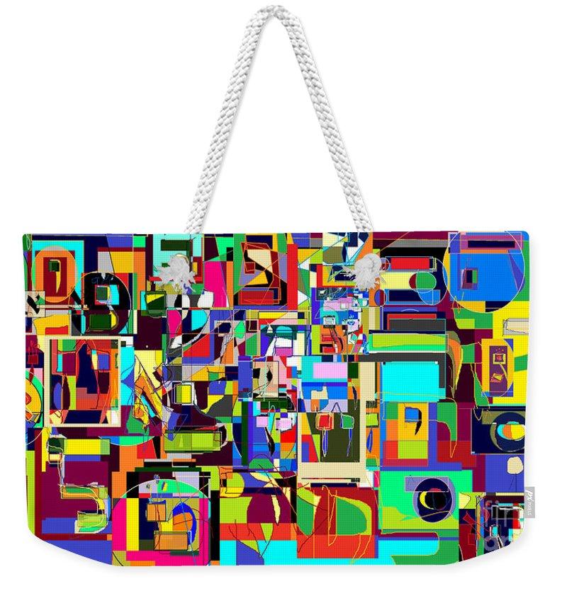 Weekender Tote Bag featuring the digital art Alef Bais 1c by David Baruch Wolk
