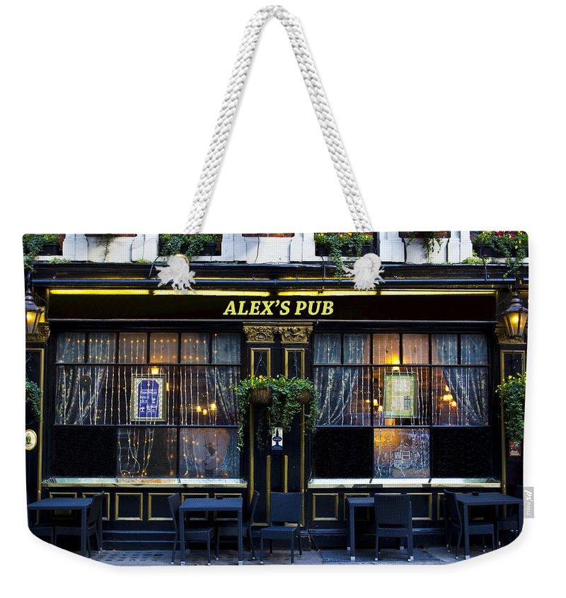 Alex Weekender Tote Bag featuring the photograph Alex's Pub by David Pyatt