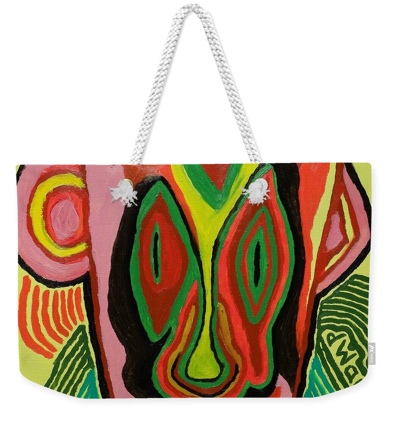Aliens Weekender Tote Bag featuring the painting Alien Mystery Man by Douglas W Warawa