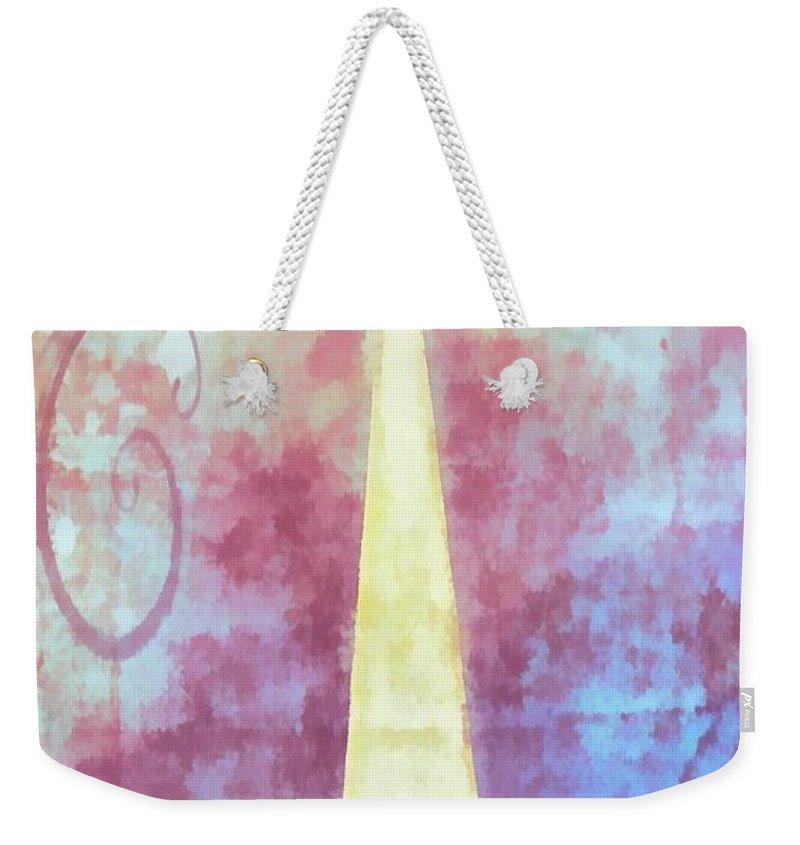 Jesus Weekender Tote Bag featuring the digital art All Else Fails by Michelle Greene Wheeler