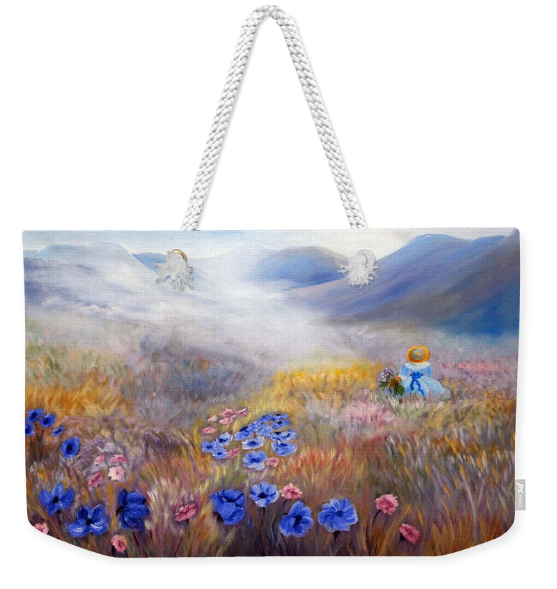 Field Weekender Tote Bag featuring the painting All In A Dream - Impressionism by Georgiana Romanovna