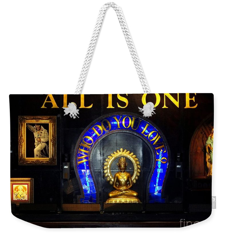 New York City Weekender Tote Bag featuring the photograph All Is One by Ed Weidman