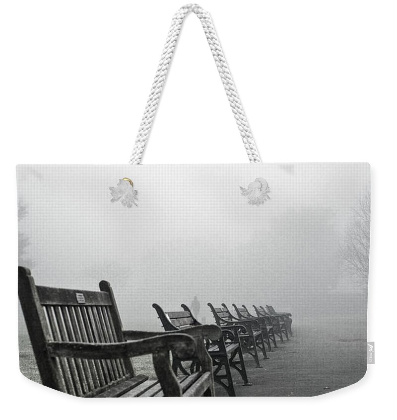Uk Weekender Tote Bag featuring the photograph All Lined Up by Christopher Rees