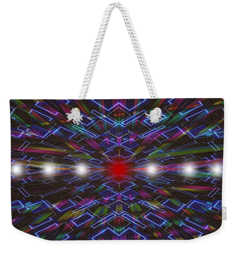 Fractal Art Weekender Tote Bag featuring the digital art All Roads Lead To... by Mario Carini