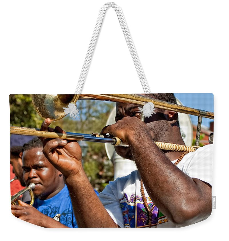 French Quarter Weekender Tote Bag featuring the photograph All That Jazz by Steve Harrington
