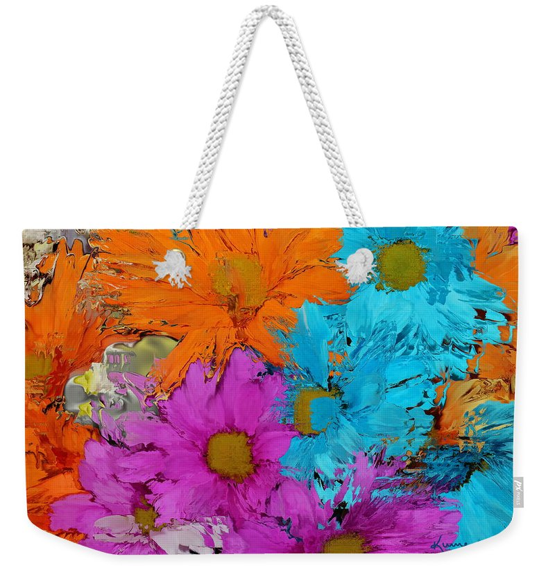 Flower Weekender Tote Bag featuring the photograph All The Flower Petals In This World 2 by Kume Bryant